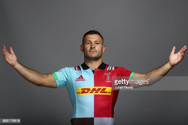 Danny Care of Quins poses for a portrait during the Harlequins photocall for the 20172018 Aviva Premiership Rugby season at The Stoop on August 18...