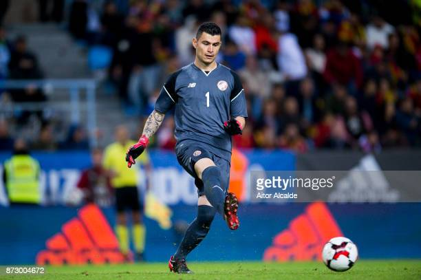 Danny Carvajal of Costa Rica controls the ball during the international friendly match between Spain and Costa Rica at La Rosaleda Stadium on...