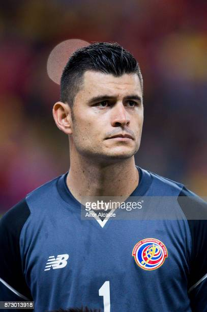 Danny Carvajal of Costa Rica looks on prior to the start the international friendly match between Spain and Costa Rica at La Rosaleda Stadium on...