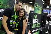 Danny Castillo poses with a fan during the UFC Fan Expo 2014 during UFC International Fight Week at the Mandalay Bay Convention Center on July 6 2014...