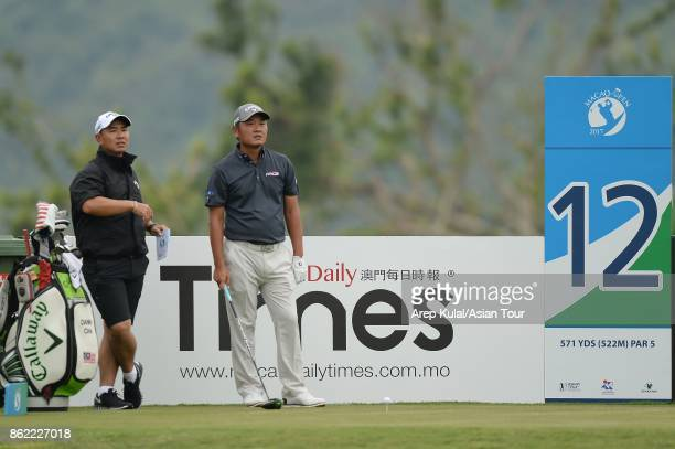 Danny Chia of Malaysia pictured during practice ahead of the Macao Open at Macau Golf and Country Club on October 17 2017 in Macau Macau
