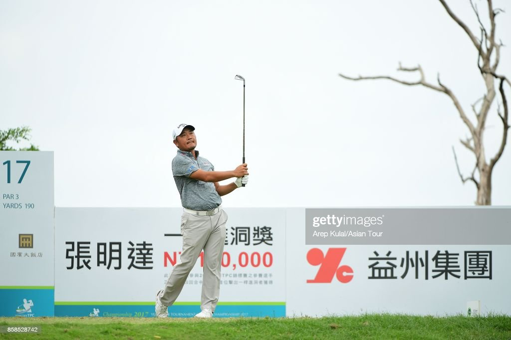 Danny Chia of Malaysia pictured during round three of the Yeangder Tournament Players Championship at Linkou lnternational Golf and Country Club on October 7, 2017 in Taipei, Taiwan.