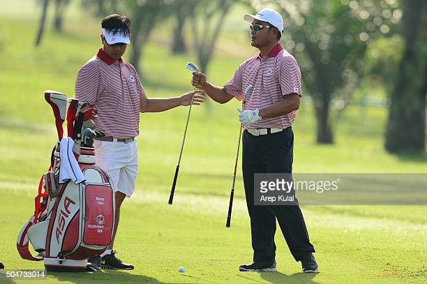 Danny Chia of Team Asia pictured during the practice round ahead of Eurasia 2016 presented by DRBHICOM at Glenmarie GCC on January 13 2016 in Kuala...