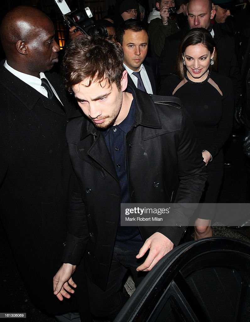 Danny Cipriani and Kelly Brook at Anabel's Club on February 9, 2013 in London, England.
