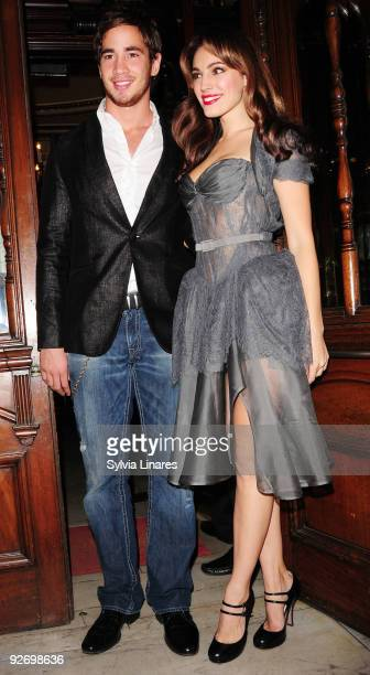 Danny Cipriani and Kelly Brook attend Calendar Girls Cast Change held at Noel Coward Theatre on November 3 2009 in London England