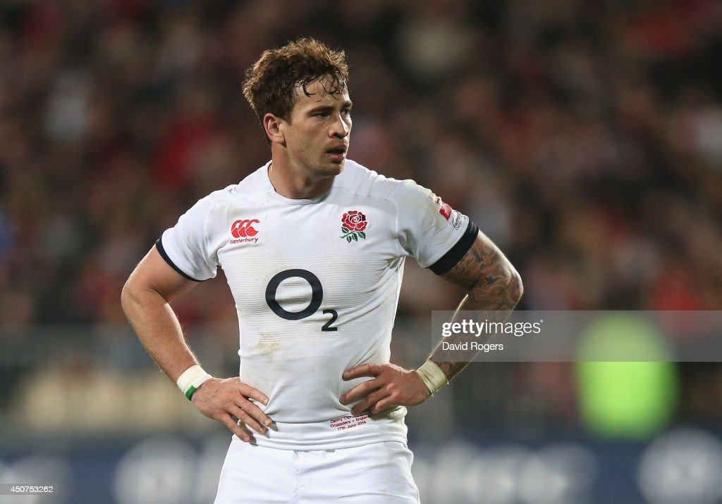 <a gi-track='captionPersonalityLinkClicked' href=/galleries/search?phrase=Danny+Cipriani&family=editorial&specificpeople=688774 ng-click='$event.stopPropagation()'>Danny Cipriani</a> of England looks on during the match between the Crusaders and England at the AMI Stadium on June 17, 2014 in Christchurch, New Zealand.