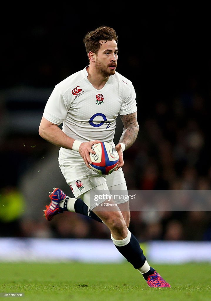 <a gi-track='captionPersonalityLinkClicked' href=/galleries/search?phrase=Danny+Cipriani&family=editorial&specificpeople=688774 ng-click='$event.stopPropagation()'>Danny Cipriani</a> of England runs with the ball during the RBS Six Nations match between England and France at Twickenham Stadium on March 21, 2015 in London, England.