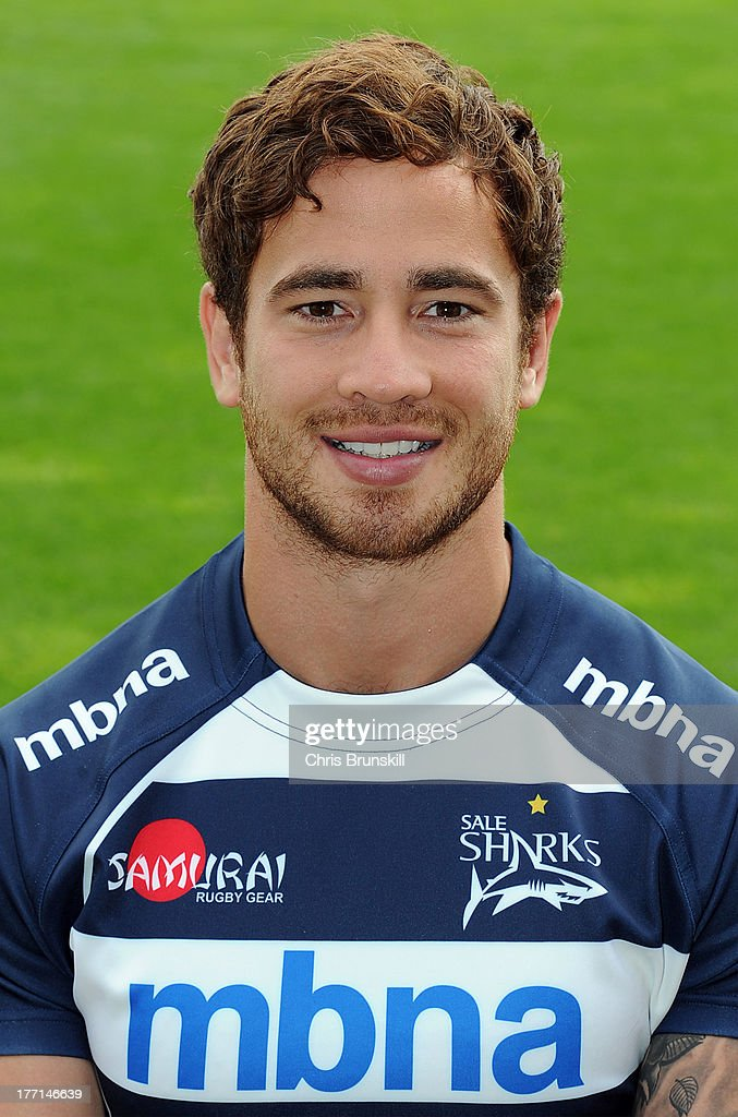<a gi-track='captionPersonalityLinkClicked' href=/galleries/search?phrase=Danny+Cipriani&family=editorial&specificpeople=688774 ng-click='$event.stopPropagation()'>Danny Cipriani</a> of Sale Sharks poses for a portrait at Salford City Stadium on August 21, 2013 in Salford, England.