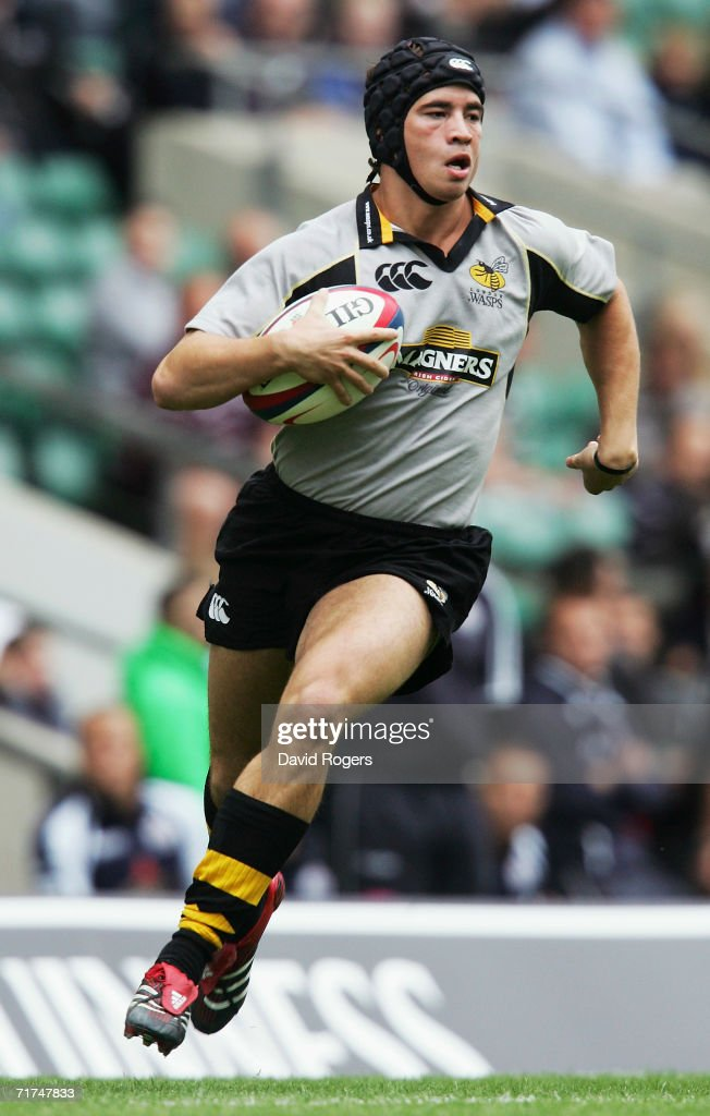 Danny Cipriani of Wasps runs with the ball during the Coral Middlesex Sevens at Twickenham on August 12, 2006 in London, United Kingdom.