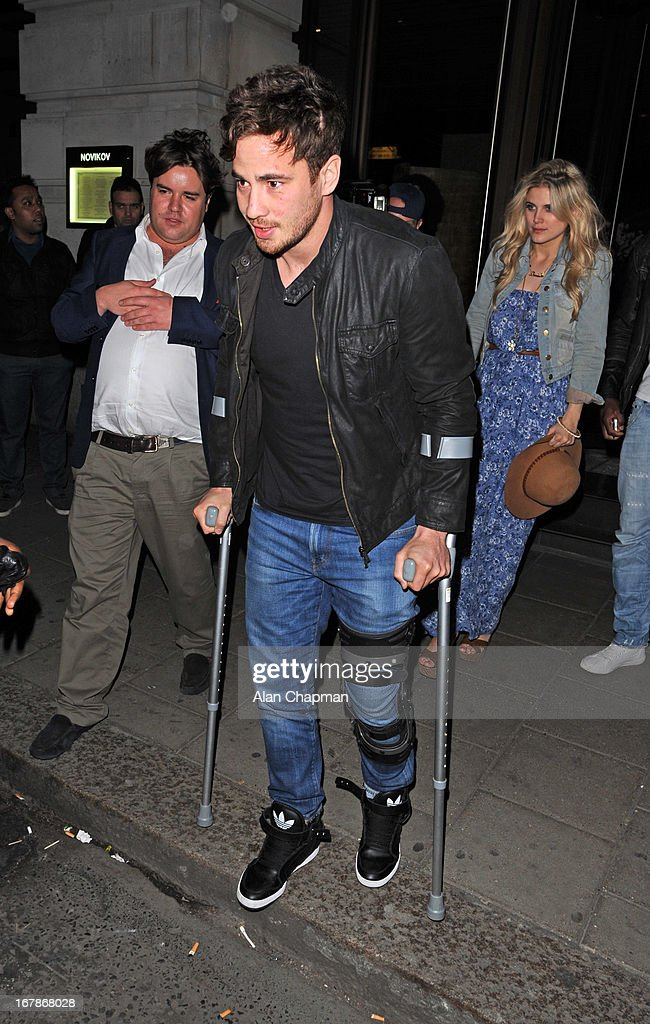 <a gi-track='captionPersonalityLinkClicked' href=/galleries/search?phrase=Danny+Cipriani&family=editorial&specificpeople=688774 ng-click='$event.stopPropagation()'>Danny Cipriani</a> sighting leaving Novikov Restaurant on May 1, 2013 in London, England.
