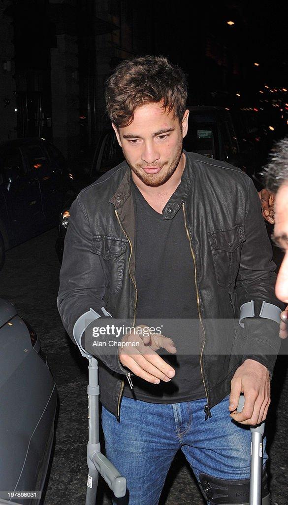Danny Cipriani sighting leaving Novikov Restaurant on May 1, 2013 in London, England.