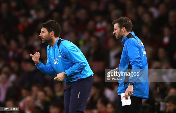Danny Cowley Danny Cowley manager of Lincoln City and Nicky Cowley assistant manager of Lincoln City give instructions during The Emirates FA Cup...
