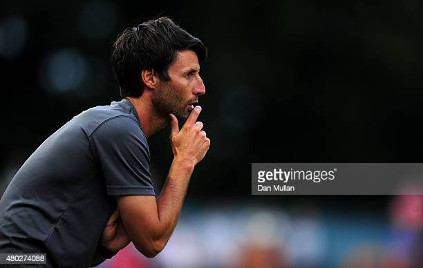 Danny Cowley Manager of Braintree Town looks on during the pre season friendly match between Braintree Town and Leyton Orient at the Miles Smith...