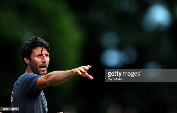 Danny Cowley Manager of Braintree Town reacts during the pre season friendly match between Braintree Town and Leyton Orient at the Miles Smith...