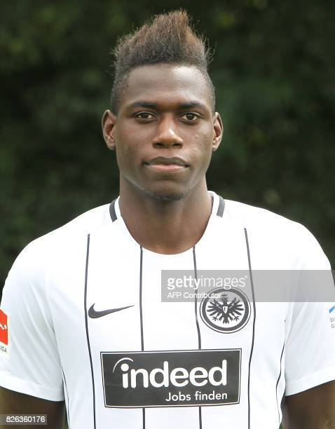 Danny Da Costa from German first division Bundesliga football team Eintracht Frankfurt poses for a photo in Frankfurt Germany on August 4 2017 / AFP...