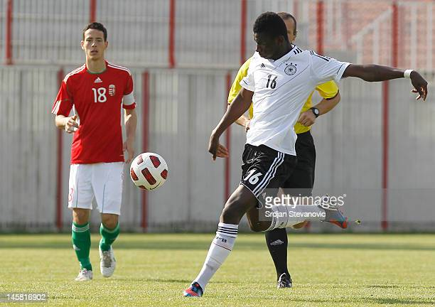 Danny da Costa Vieira of Germany in action during the U19 Hungary v U19 Germany Elite Round match at Slana Bara stadium on May 30 2012 in Novi Sad...