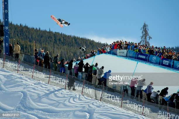 Danny Davis competes during the Men's Halfpipe finals of the 2017 Burton US Open on March 4 2017 in Vail Colorado