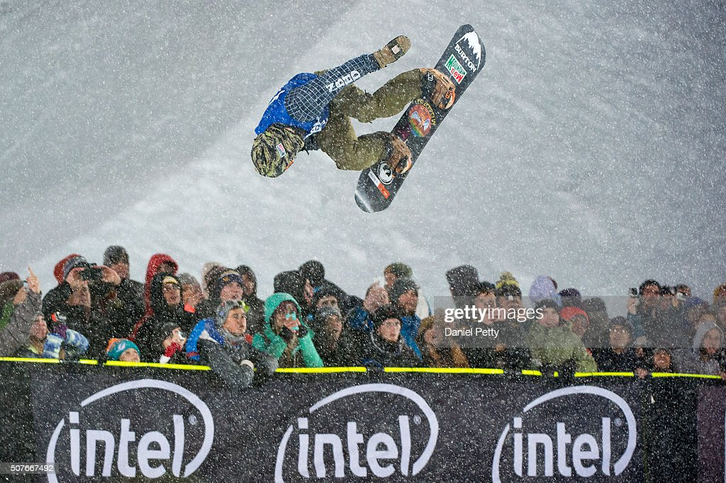 Danny Davis of Michigan competes in the first run of the men's snowboard halfpipe at Winter X Games 2016 Aspen at Buttermilk Mountain on January 30...