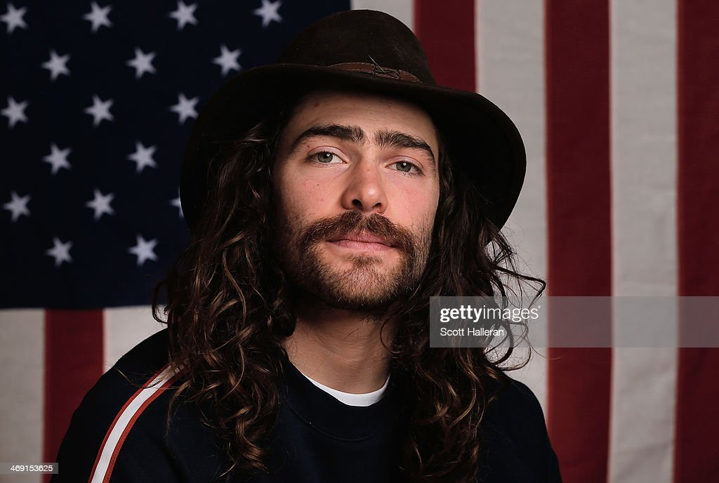 Danny Davis of the USA Snowboarding team poses in the Olympic Park during the Sochi 2014 Winter Olympics on February 12 2014 in Sochi Russia
