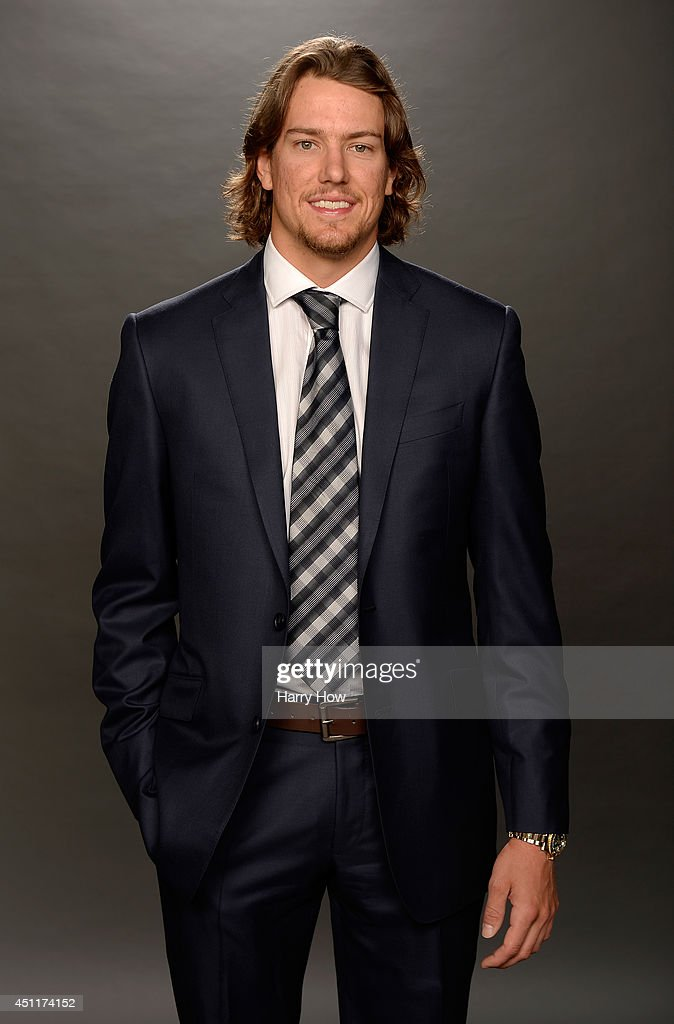 Danny Dekeyser of the Detroit Red Wings poses for a portrait during the 2014 NHL Awards at Encore Las Vegas on June 24, 2014 in Las Vegas, Nevada.