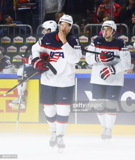 Danny Dekeyser of the USA is dejected after losing the 2017 IIHF Ice Hockey World Championship Quarter Final game between USA and Finland at Lanxess...