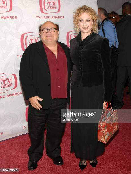 Danny DeVito and Carol Kane during 5th Annual TV Land Awards Arrivals at Barker Hanger in Santa Monica CA United States