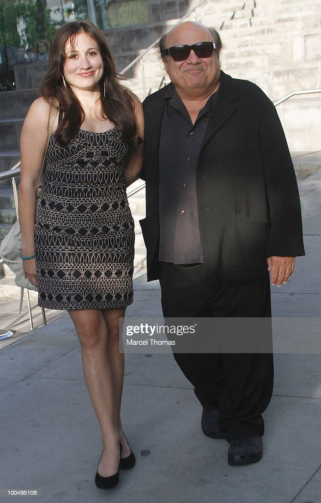 Danny DeVito and daughter Lucy DeVito attend the The Film Society of Lincoln Center's 37th Annual Chaplin Award gala at Alice Tully Hall on May 24, 2010 in New York City.