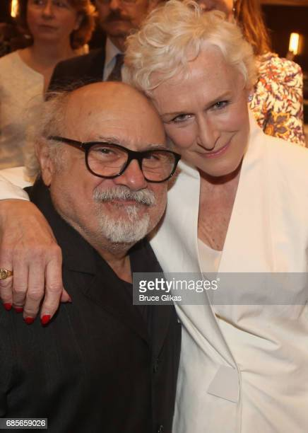 Danny DeVito and Glenn Close pose at the 2017 Drama League Awards Luncheon at The Marriott Marquis Times Square on May 19 2017 in New York City