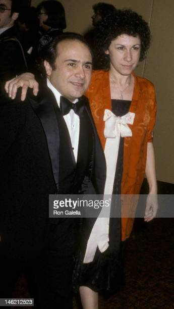 Danny DeVito and Rhea Perlman attend 37th Annual Golden Globe Awards on January 26 1980 at the Beverly Hilton Hotel in Beverly Hills California