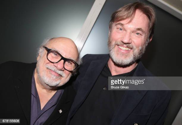 Danny DeVito and Richard Thomas pose at The 71st Annual Tony Awards Meet the Nominees Press Junket at Sofitel Hotel on May 3 2017 in New York City