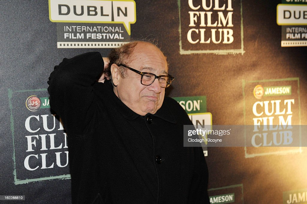 <a gi-track='captionPersonalityLinkClicked' href=/galleries/search?phrase=Danny+DeVito&family=editorial&specificpeople=210718 ng-click='$event.stopPropagation()'>Danny DeVito</a> attends a screening of LA Confidential during the Jameson Cult Film Club on February 21, 2013 in Dublin, Ireland.
