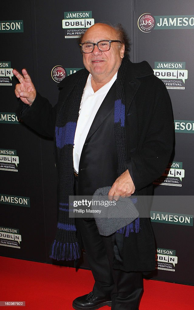 <a gi-track='captionPersonalityLinkClicked' href=/galleries/search?phrase=Danny+DeVito&family=editorial&specificpeople=210718 ng-click='$event.stopPropagation()'>Danny DeVito</a> attends a screening of 'The War of the Roses' during the Jameson International Film Festival on February 22, 2013 in Dublin, Ireland.
