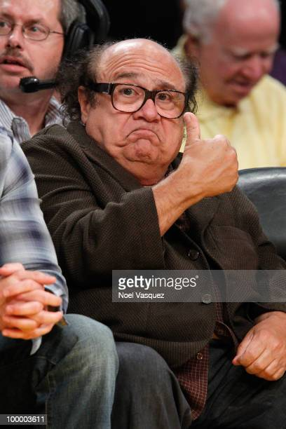 Danny DeVito attends Game Two of the Western Conference Finals between the Phoenix Suns and the Los Angeles Lakers during the 2010 NBA Playoffs at...