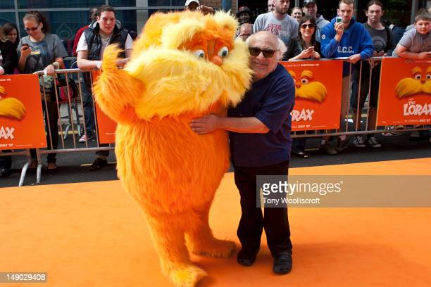 Danny Devito attends the UK premiere of Dr Seuss' The Lorax at cineworld on July 22 2012 in Birmingham England
