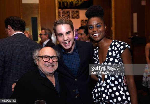Danny Devito Ben Platt and Denee Benton attends the Tony Honors Cocktail Party Presenting The 2017 Tony Honors For Excellence In The Theatre And...