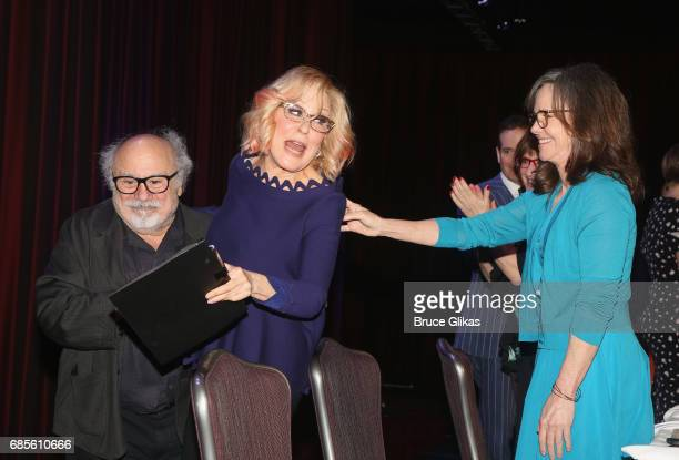 Danny DeVito Bette Midler and Sally Field at the 2017 Drama League Awards Luncheon at The Marriott Marquis Times Square on May 19 2017 in New York...