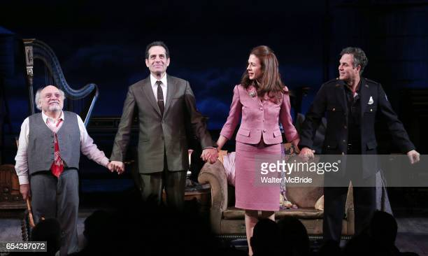 Danny DeVito Jessica Hecht Mark Ruffalo and Tony Shalhoub during Broadway Opening Night performance Curtain call for the Roundabout Theatre...