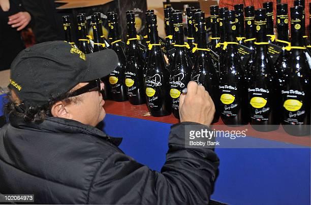 Danny DeVito promotes his Premium Limoncello at Joe's Canal Discount Liquor on February 13 2010 in Woodbridge New Jersey