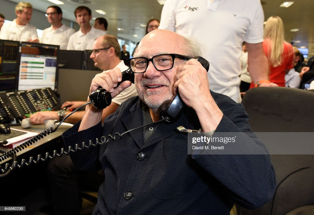 Danny DeVito, representing SMA Trust, makes a trade at the BGC Charity Day on September 11, 2017 in Canary Wharf, London, United Kingdom.