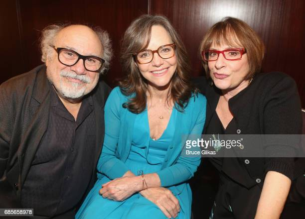 Danny DeVito Sally Field and Patti LuPone pose at the 2017 Drama League Awards Luncheon at The Marriott Marquis Times Square on May 19 2017 in New...