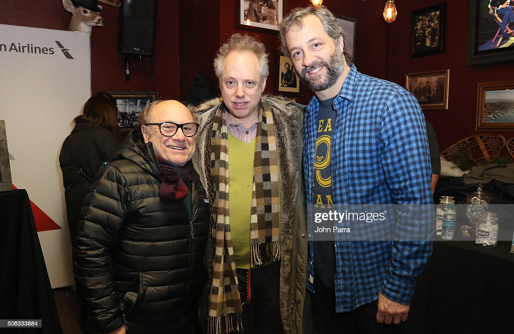 Danny DeVito, Todd Solondz and Judd Apatow attend The Hollywood Reporter 2016 Sundance Studio at Rock & Reilly's Day 1 on January 22, 2016 in Park City, Utah.