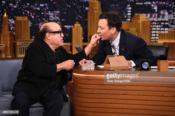 Danny DeVito Visits 'The Tonight Show Starring Jimmy Fallon' at Rockefeller Center on March 4 2015 in New York City