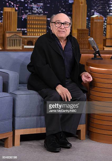 Danny DeVito visits 'The Tonight Show Starring Jimmy Fallon'at Rockefeller Center on January 13 2016 in New York City