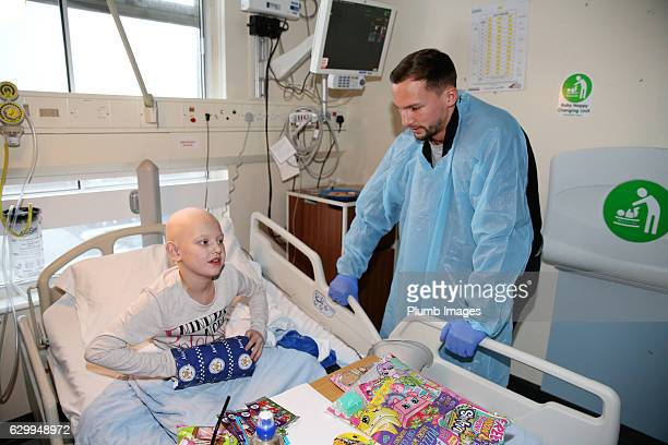 Danny Drinkwater during the Leicester City Players Deliver Christmas Presents to Patients at Leicester Royal Infirmary on December 15 2016 in...