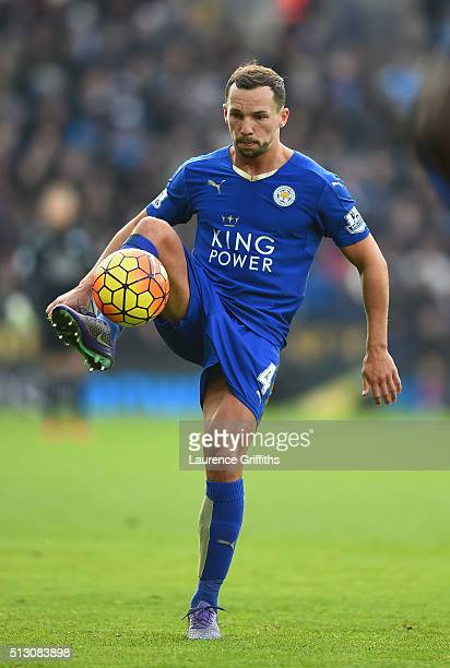 Danny Drinkwater of Leicester City in action during the Barclays Premier League match between Leicester City and Norwich City at The King Power...