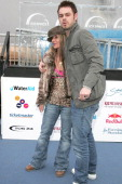 Danny Dyer and guest during 'Ice Space' Launch Party Outside Arrivals at Tower Bridge in London Great Britain