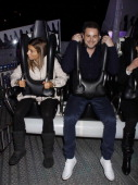 Danny Dyer and guest on a ride during the Winter Wonderland Launch Party at Hyde Park on November 172011 in LondonEngland
