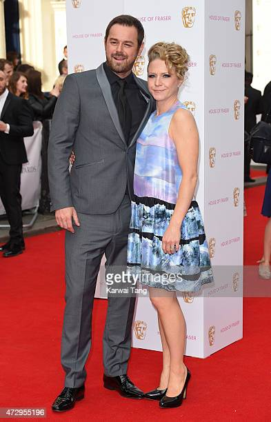 Danny Dyer and Kellie Bright attend the House of Fraser British Academy Television Awards at Theatre Royal on May 10 2015 in London England
