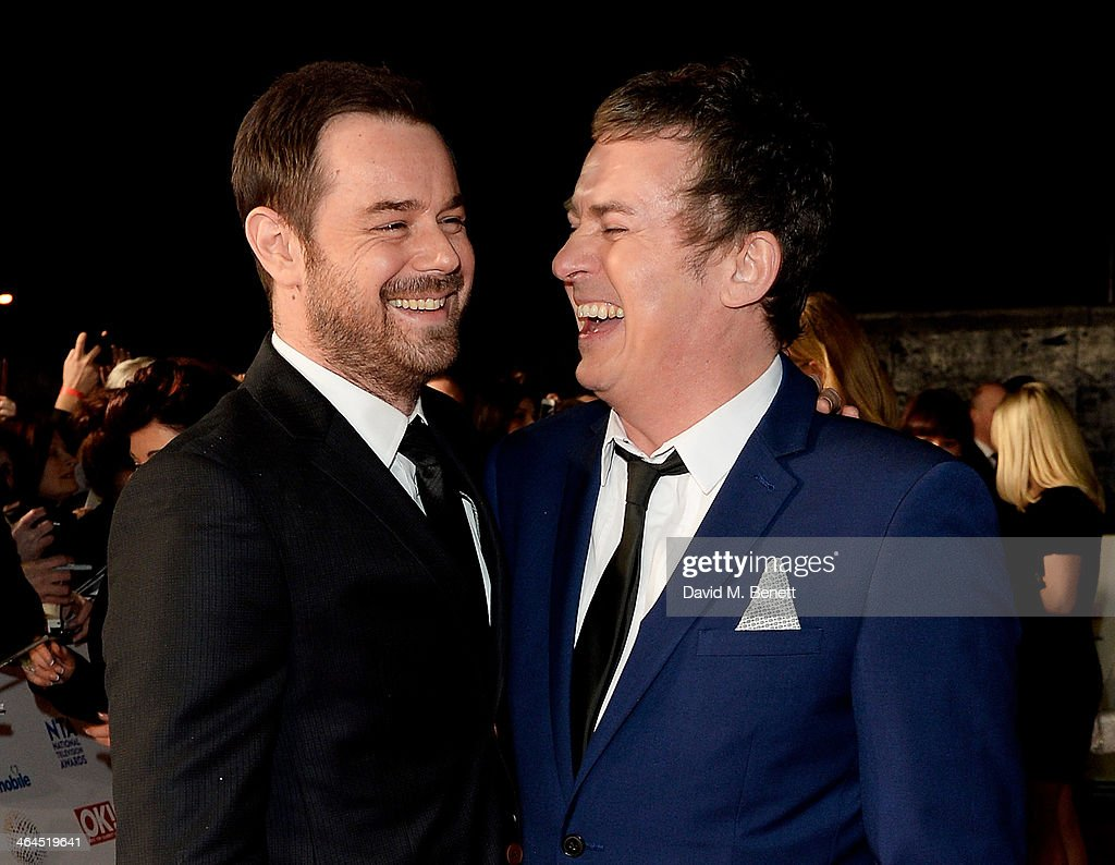 <a gi-track='captionPersonalityLinkClicked' href=/galleries/search?phrase=Danny+Dyer+-+Actor&family=editorial&specificpeople=15358895 ng-click='$event.stopPropagation()'>Danny Dyer</a> (L) and <a gi-track='captionPersonalityLinkClicked' href=/galleries/search?phrase=Shane+Richie&family=editorial&specificpeople=206991 ng-click='$event.stopPropagation()'>Shane Richie</a> attend the National Television Awards at the 02 Arena on January 22, 2014 in London, England.
