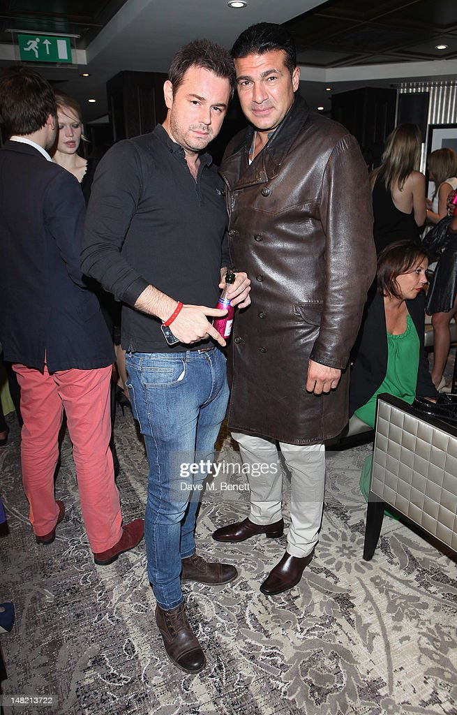 Danny Dyer and Tamer Hassan pose at the Hippodrome Casino Launch Party, Leicester Square, on July 12, 2012 in London, England.